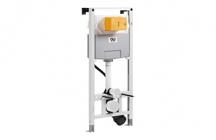 - OLI120 Plus sem estrutura é compatível com todas as sanitas de fixação ao chão e para todos os tipos de aplicação (em paredes de alvenaria, de gesso cartonado ou calha técnica).