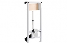 Frame for wall-hung WC with flush valve. Frame tested for 400kg load and is ideal for solid wall or drywall installation. Easy and quick installation with Fast-Fit system.