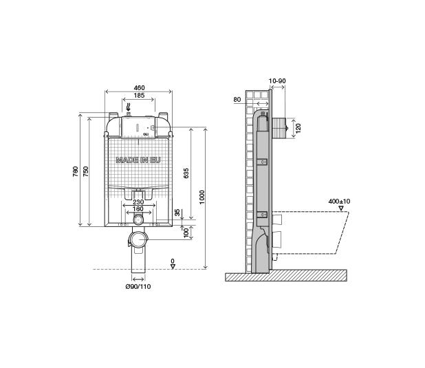 disegno-quotato-OLI74-Plus-simflex-Meccanica 6/3L