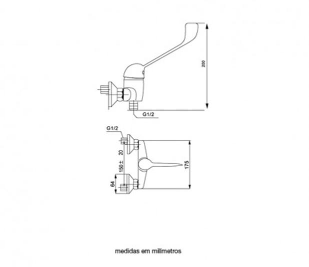 Desenho-Cotado-misturadora-easy-base-de-chuveiro