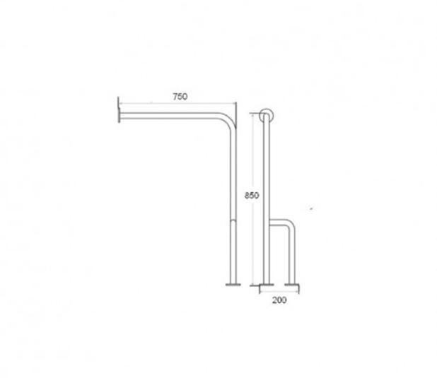 Desenho-Cotado-BARRA-FIXA-3-PONTOS-Barra-de-apoio-à-parede-e-solo