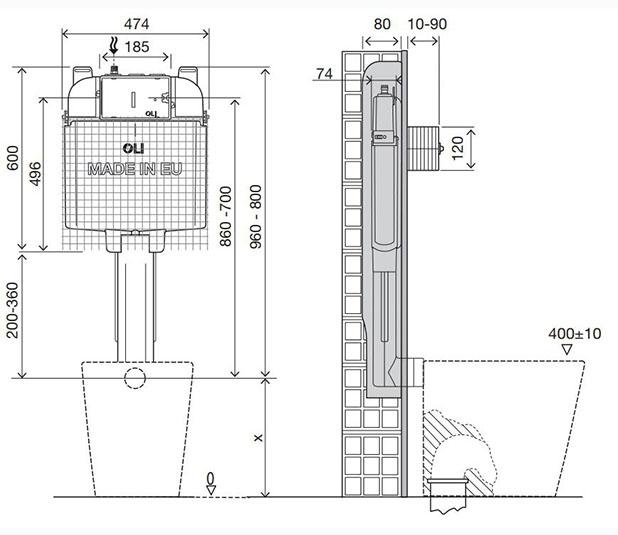 Dimensioned-Drawing-OLI74-Plus